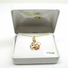 Ladies Cultured Peart and Black Hills Gold Pendant with Chain in Box