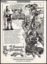 THE SORCERER'S SCRAPBOOK__Orig. 1985 Trade AD promo / poster__MICHAEL BERENSTAIN