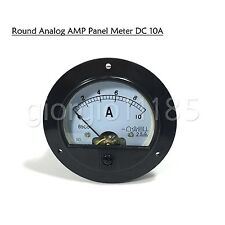 Us Stock Dc 0 10a Round Analog Amp Current Pointer Needle Panel Meter Ammeter