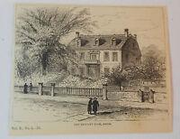 1880 magazine engraving ~ JOHN HANCOCK'S HOUSE, BOSTON