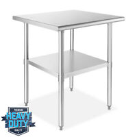 """Stainless Steel 24"""" x 24"""" NSF Commercial Kitchen Work Food Prep Table"""