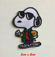 Snoopy dog cartoon art badge large Embroidered Iron or sew on Patch