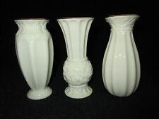Lenox Set of 3 Carved Bud Vases in Box