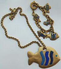 Très jolie parure collier et bracelet plaqué or AGATHA PARIS. Réf A257.