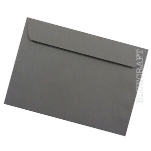 10 pack x C5 Graphite Grey Luxury 120gsm Envelopes - 162 x 229mm - 6 x 9 inches
