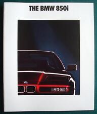 BMW 850i LF USA Car Sales Brochure Feb 1990 #011080625 2/90 VM