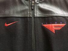 Nike Leather Wool Flight 1 Bomber Jacket Black Red Purple Raptors 7 Air Jordan M