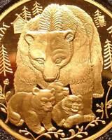 RARE 1993 RUSSIAN GOLD SILVER BEAR COINS SET ! PROOF BEAUTIES PR PF WILD RUSSIA