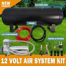 NEW 12V Air Compressor 9.5L Tank Kit Airbag Tyre Inflator 120Psi ,1.8cfm Pump