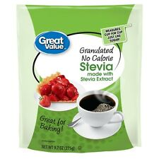 Great Value Granulated No Calorie Stevia Sweetener, 9.7oz Resealable Pouch