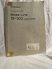 Roland Computer Controller Base Line Tb-303 Owner's Manual