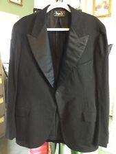 7f83b2a16ed0f VTG Roger Peet Black Mens Tuxedo Coat 48 Long - Goth Morning Riding Coat -  Clean