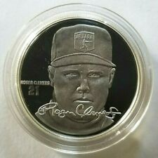 ROGER CLEMENS Highland Mint .999 FINE SILVER Coin Medallion & Info Card & COA