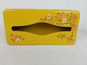 Vintage 50's Ransburg Yellow Mustard Tissue Box Kleenex Holder Metal Wall Mount