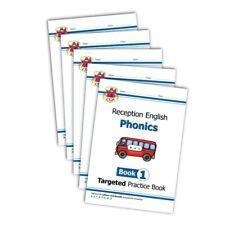 CGP RECEPTION PHONICS PRACTICE BOOKS 1,2,3,4 & 5 COMPLETE SET BUNDLE