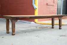 Antique 10ft Dining Table Store Counter Harvest Table Drafting table wood legs
