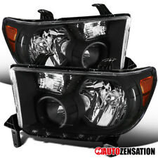 For 2007-2013 Toyota Tundra 2008-2014 Sequoia Black Headlights Lamps+Amber