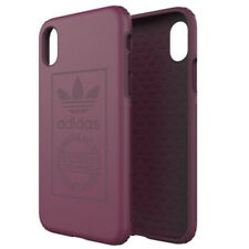 Coque Adidas Originals Logo antichoc iPhone X bordeaux