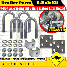 Galvanized Leaf Spring U-Bolt Kit Suits 39mm Round Axle with 40x115mm U-Bolts