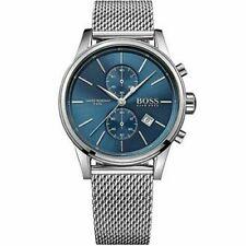 NEW HUGO BOSS Chronograph Mens Watch Steel Mesh Strap Blue HB1513441 Genuine