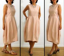COS Kleid Baumwolle Seide Nude Rosa Gr.38/40, M/L