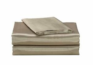California Drapes 4 Piece Super Soft & Silky Satin Sheet Set