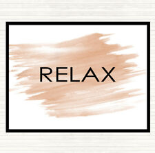 Watercolour Relax Quote Dinner Table Placemat