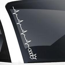 Frontscheibenaufkleber Tuning Aufkleber Sticker Herzschlag JDM für Audi Fans 483