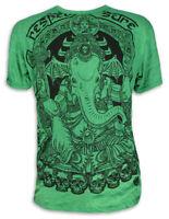 SURE Herren T-Shirt Ganesha Elefanten-Gott Hindu Yoga Goa Hippie Festival M L XL