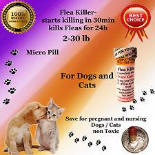 Flea Killer Dogs / Cats 2-30lb 6x micro capsules generic Capstar Sealed Control