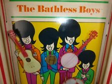 VTG 60s The Beatles Bathless Boys Parody Bubble Bath Shadow Box Wall Decor