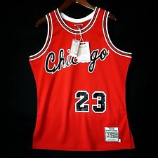 100% Authentic Michael Jordan Mitchell & Ness Bulls Rookie Red Jersey Size 44 L