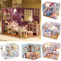 DIY Dolls house Miniature Kit w/ Cover /LED Light/Dollhouse&furniture Birthday