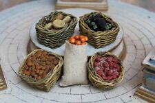 "Nativity ACCESSORY LOT - FOOD BASKETS & BAG For 5"" Fontanini Market Stable Inn"