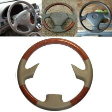 Tan Leather Brown Wood Steering Wheel Cover 99-03 Lexus RX300 GS300 GS400 GS430