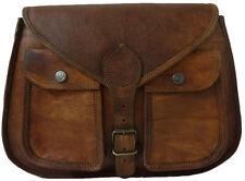 Genuine Leather Buckle Lock Saddle Sling Crossbody Purse Women's Vintage Bag G13