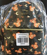 NEW Disney Loungefly Mickey Mouse Pumpkin Halloween Mini Backpack IN HAND Sealed