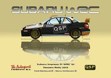 Greetings card Subaru Impreza WRC S7 #5 Biesheuvel / Schillemans Version 4