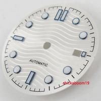 31MM White Dial Luminous Marks Date Fit ETA 2824 2836 MIYOTA 8215 821A Movement