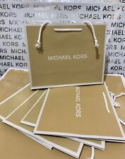 "MICHAEL KORS MK Small Shopping Paper Gift Bag 10""x 8""x 4"" Lot of 5 Brand NEW"