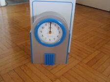 Kundo Funkuhr Space timer Radio Controlled  kleine Standuhr Kamin Uhr silber/bla