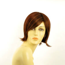 short wig for women brown copper wick light blond and red ref: MARINA 33h PERUK