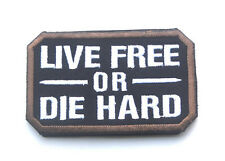 Live Free Or Die Hard Usa Army U.S. Tactical Military Embroidered Hook Patch