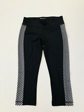 NWT Ideology Women's Size Small Black White Athletic Cropped Leggings