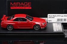 1 of 150 -- Skyline R34 GT-R V-spec **Active Red** -- HPI #8371 Resin 1/43