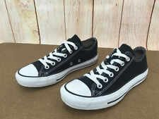 Converse All Star Double Tongue Black Low Lace Sneaker Womens 7 Checkered A59(5)