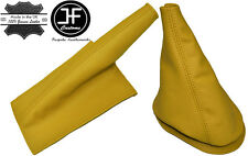 YELLOW LEATHER GEAR-HANDBRAKE BOOT FOR BMW MINI COOPER CLASSIC UP TO 2000