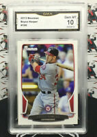 BRYCE HARPER 2013 BOWMAN 2ND YEAR CARD #150: ROOKIE STATS! NATIONALS A8