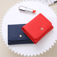 Women Lady Crown Short Mini Money Wallet Bag Coin Purse Card Holder Wallet S