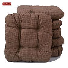 Sitzkissen in braun 38 x 38 cm Stuhlkissen Kissen Universalkissen Softkissen
